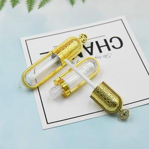 4ml fai da te Svuotare Lip Gloss Tubi Gold Crown design rossetto Bottiglia Contenitore attrezzo di bellezza del campione ricaricabile Lipgloss bottiglia