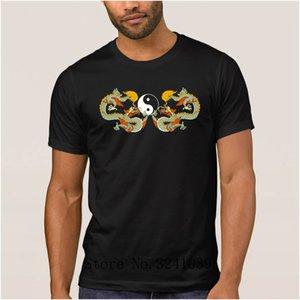 Anlarach Humor yin yang dragon symbol tai chi ch uan t shirt men summer Anti-Wrinkle men's t-shirt Short Sleeve tee shirt men