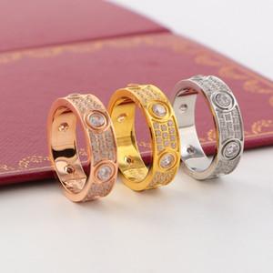 Свадьба Невеста Жениха Пара Кольца Мода Rhinestone Мужчины Женщины кольцо Hip Hop Titanium стальные кольца Спортивные аксессуары