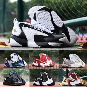 2020 erkekler Zoom 2 K koşu ayakkabıları siyah beyaz mavi ZM 2000 Bayan tasarımcı Eğitmen M2k Tekno moda spor Sneakers rahat açık Ayakkabı