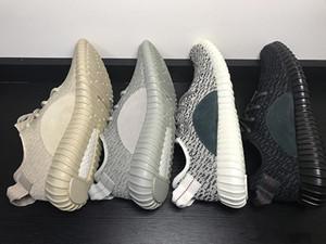 2019 Mejor calidad de los zapatos de Kanye West V1 Oxford Tan Moonrock pirata de tortuga Negro Dove escotados 1s zapatos deportivos Hombres Mujeres Zapatos Casual