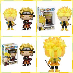 Naruto Pop Figura Funko Pop Animazione Naruto sei Percorso Sage modalità Vinyl Action Figure con la scatola # 185 / # 186 Gift Toy Doll