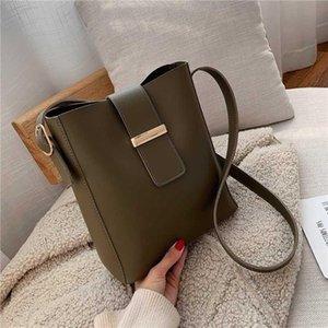 Burminsa Wide Strap Soft Bucket Shoulder Bags For Women Large Capacity Ladies Messenger Bags Work Female Composite
