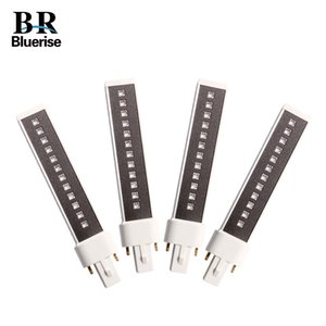 BLUERISE 4 Pieces 365+405nm 9W lamp Tube For UV Led Nail Lamp Replaced Leds Double light Source Bulb Led Lamp For Nails LY191228