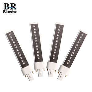 405 ㎚ + BLUERISE 4 조각 (365)는 UV LED 9W 네일 램프는 램프 튜브의 LED 광원 더블 벌브 LED 램프 손톱 LY191228를 대체