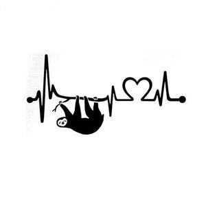 Ленивец сердцебиение спасательный круг личность смешной автомобиль ноутбук стикер ca-480