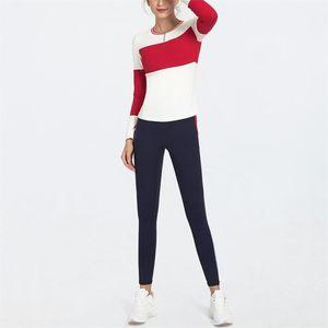 Yoga Outfit Sport Wear Frauen Yoga Set Red Leggings Set Gym Kleidung 2Piece Frauen Anti-Pilling-Training Markenkleidung