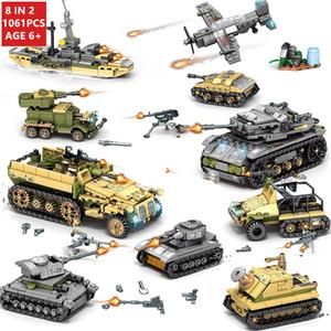 1061Pcs Militar Technic Ferro Império Tanque Building Blocks conjuntos de armas Guerra Chariot Criador do exército WW2 Soldados LegoINGs Bricks Brinquedos