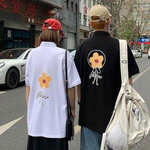 Été 2020 Mode Polos pour Lovers surdimensionné Streetwear imprimé pâquerettes Chemises New Polo Hommes T-shirt Hip Hop Shirts Men Dress