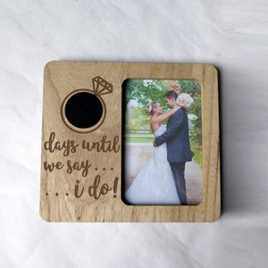 Table DIY Anniversary Wedding Countdown Gifts Engagement Ornament Decoration Party Wooden Photo Love Blackboard Picture Frame