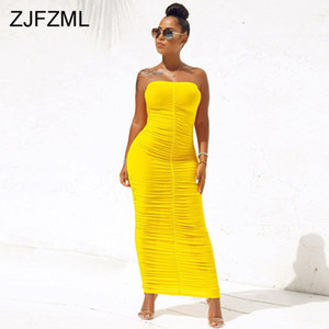 Sexy Backless mit Rüschen besetzt Wickelkleid für Frauen Ärmel Bodycon verursachenden Maxi Kleider plus Größe mit hohen Taille festen Paket-Hüfte-Kleid