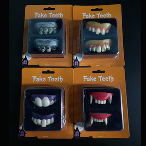 Engraçado Vampiro Dentes Falsos Plástico Simulado Incisivos Cadáveres Complicados Chaves Para Decoração de Halloween Direto Da Fábrica 2 2cy E1