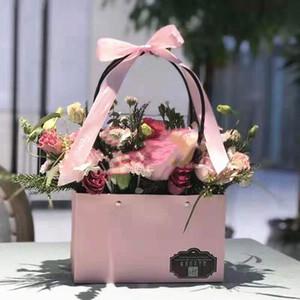 Çiçek Çanta Sevgililer Günü Taşınabilir Ambalaj Kutu Yaratıcı Kağıt Kalite Su geçirmez Dikdörtgen Çiçek Düzenleme Çiçek Sepeti Gül 2zg p1