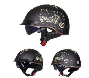 DOT-Zertifizierung Retro Motorrad-Sturzhelm Moto Helm Roller Klassiker Half Face Biker Motorrad-Sturzhelm Casco Moto Moto