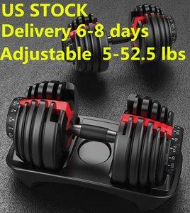 EEUU acción, envío rápido, ajustable Peso mancuernas 5-52.5lbs tono Buena Condición Pesas su fuerza y construir los músculos