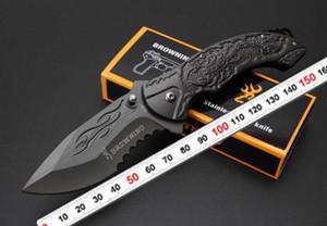 Browning B061 Katlama bıçak 440C Blade Tüm çelik kabartmalı Sap Titanyum Taktik Bıçak Cep Kamp Aracı hızlı açık Av Bıçağı Surviva