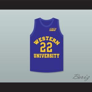 Mavi Cips Yama Custom Herhangi Numarası Herhangi İsim ile Anfernee Hardaway Butch McRae 22 Batı Üniversitesi Mavi Basketbol Forması