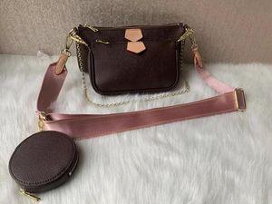 Original l Muster Echtes Leder Umhängetaschen Designer Handtaschen Hohe Qualität Luxus Pochette Felicie Kette Frauen Taschen 62467