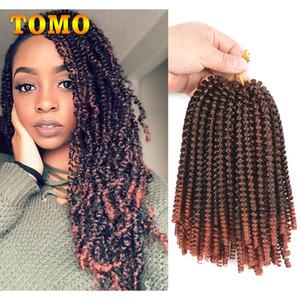 TOMO Hair Crochet Hair Flechten 8 Zoll Kurzes lockiges Twist 30 Stränge / Packung Synthetic Spring Twist Ombre Flechtenhaar Für schwarzweiße Frau
