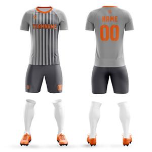2020 enfants uniformes de soccer blanc garçons maillot de football masculin équipe sportive courte football Jersey ensembles de formation bricolage