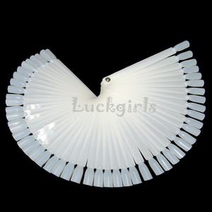 50 / set Art Tips Display Éventail de vernis à ongles polonais / échantillon de couleur Nail Art Tools Practice Equipment White