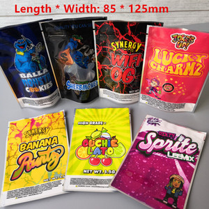 New size 85x125cm Balla Monsta cookies bags Lucky charmz mylar bag Sherbmoney Dirty Sprite Leemix Smell Proof Packaging Bag