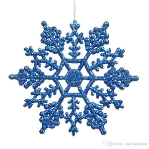 "Christmas Ornaments Snowflake Colorful Glitter 4"" Plastic Glitter Snowflake Club Pack of 12 Interior decoration free shipping"