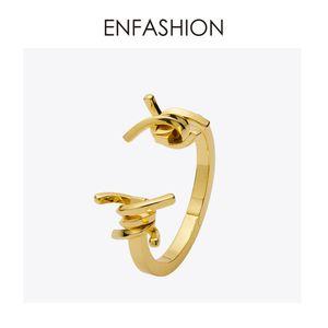 Enfashion Schmuck Dornen Stacheldraht Armband Noeud Armband Gold Farbe Armreif Für Frauen Manschette Armbänder Manchette Armreifen Y19051101