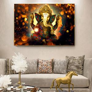 Ganesha Götter Leinwand Gemälde an der Wand Klassische Hindu Gods Wall Art Canvas Hinduismus Dekorative Pictures Home Decor 190929