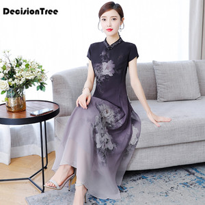 2020 Chinese Dress plus chinese qipao classic women satin cheongsam oriental bride wedding dresses evening party gown