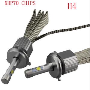 TOYIKIE 최신 110W 13200Lm 크리 CHIPS XHP-70 LED 헤드 라이트 H4 H7 H8 / H9 / H11 9005 9006 자동차 LED 헤드 라이트 안개 램프 키트