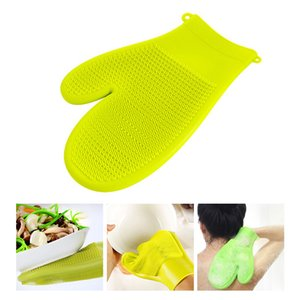 1Piece Multi Silikon Dish Glove magische Silikon-Scrubber Food Grade Sauber Dishwash Brushe Sauber Glove Double Side