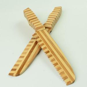سكين مطبخ للأطفال الصفتي سكين الخس سلطة الخضار سكين مسننة الخيزران القاطع القطاعة كعكة الخبز كوك diy ZC0179