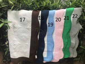 Blanket 22styles INS bebê bordado Cotton Blanket infantil Ruffle Quilt Criança Swaddling respirável cama Ar Condicionado FFA4228-3 Blanket