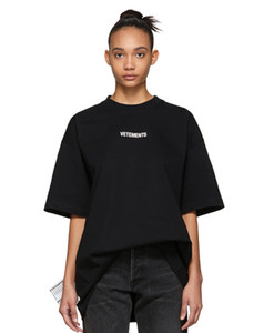 20ss Luxury Logo Vetements pequeno de alta qualidade T-shirt Mens Fashion Designer T camisas etiqueta de lavagem Mulheres Side Big Casual Cotton Tee Top