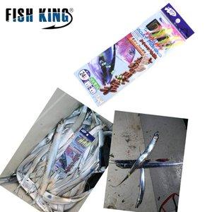 heap Lures FISH KING 1-3packs Luminous Japan Saltwater Fish Skin Sabiki Hook Maruseigo 9-24# Sea Boat Fishing Sabiki Rigs Fishing Lure H...