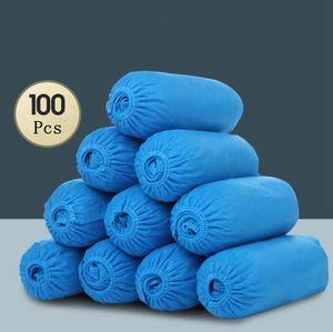 Одноразовые бахилы эластичная одноразовая ткань защитные бахилы бахилы крытый ковер пол синий нетканый материал бахилы YP328
