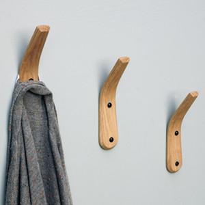 De nombreux styles de multi crochets fonctionnels manteau en bois Serviette Crochet crochets muraux serviettes Cintres Rack pour Chambre Salon famille