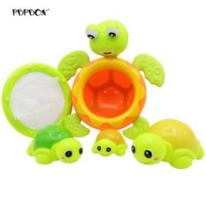 5pcs Turtle Bathing Toy 재미 있은 동물 수영장 수영 목욕 세트 어린이위한 물 장난감 거북이 놀이 세트