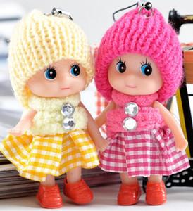 Nuevos niños Juguetes blandos interactivo Baby Dolls Toy Key Chain, mini muñeca del llavero para niñas anillo dominante Holder