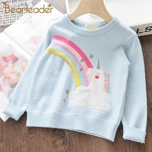 Orso Leader Maglioni per ragazze Nuovo marchio Ragazza Maglione lavorato a maglia Morbido cardigan di lana Abbigliamento per bambini Arcobaleno Bambino Abbigliamento per bambini Vestito SH190907
