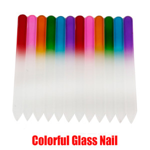 Hot Colorful Glass Nail Files Durable Crystal File Nail Buffer NailCare Nail Art Tool for Manicure UV Polish Tool In Stock