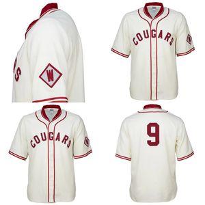 WSU Washington State Cougars 1937 Maglia personalizzata Uomo Donna Youth Baseball Maglie qualsiasi nome e numero di cuciture doppie