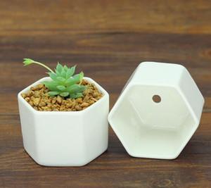 DHL macetas de bonsái de cerámica al por mayor mini macetas de porcelana blanca proveedores para sembrar suculentas macetas de vivero de interior para el hogar suministros N3