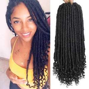 Uniqueme Goddess Hair Ombre Faux Locs Crochet Braids 18 inch Soft Natural Braid Synthetic Braiding Hair Extension High Temperature Fiber