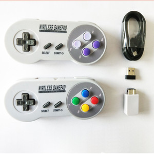 Sans fil 2,4 GHz Gamepads Joypad Manette Controller pour SNES NES classique Windows Mini IOS Android raspberry pi Console à distance