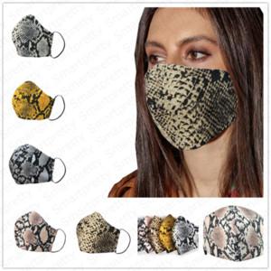 3D Leopar печатная маска для лица хлопчатобумажная ткань солнцезащитный пылезащитный анти-туман дымка рот маски крышка модный унисекс дышащий респиратор бесплатно E41303