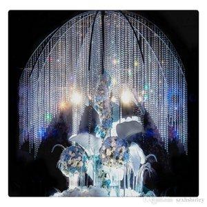 33 pés Crystal Clear acrílico Beads Cadeia de acrílico cristal Garland suspensão de diamante do casamento do candelabro fornece Decor Tabela do partido
