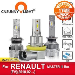 CNSUNNYLIGHT Canbus Auto LED Headlamp Bulbs For MASTER III Box FV From 2010 Foglamp Bulbs Headlight Car Styling Lamps
