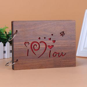 ألبوم صور سجل القصاصات DIY - ورق للمحترفين مع ذاكرة الذكرى السنوية لأفراد العائلة - 30 صفحة من هدايا عيد الحب يوم الزفاف الأسود (22 سم × 16 سم)